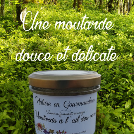 Moutarde, moutarde à l'ail des ours, moutarde aromatisée, condiment à l'ail des ours, condiment