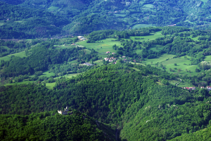 Ariège, le Séronais vue du ciel